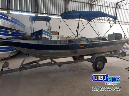 Barco Miraguaia Soldado Completo Com Motor Yamaha 25hp