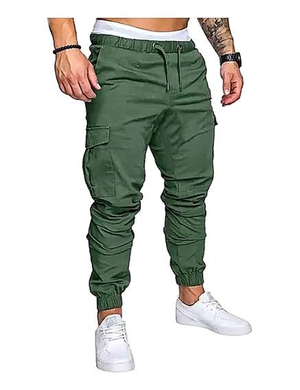 Pack X 2 Pantalon Cargo Gabardina Liso Jogger Chupin
