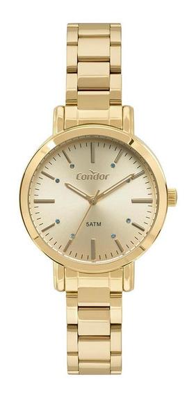 Relógio Condor Feminino Bracelete Dourado Co2035fak/k4x