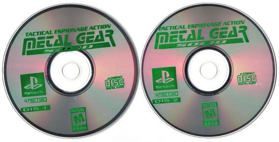 Ps1 Metal Gear Solid - Midia Prensada