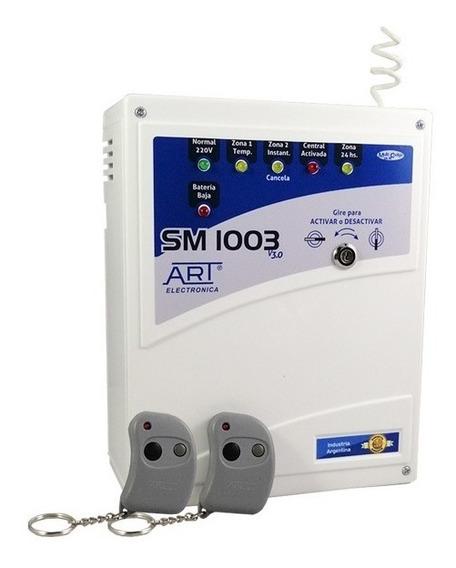 Central De Alarma Domiciliaria - Modelo Sm1003 + 2 Controles. Art