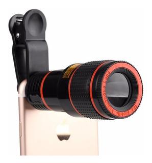 Lente Zoom Optico 12x Celular Tablet Clip Telescopio Aumento