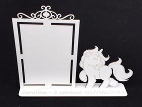 35 Unicórnio Lembrancinha Porta Retrato Personalizado Mdf