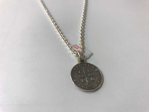 Cadena Clásica De 60 Cm Y Medalla San Benito. Plata. Tuset.