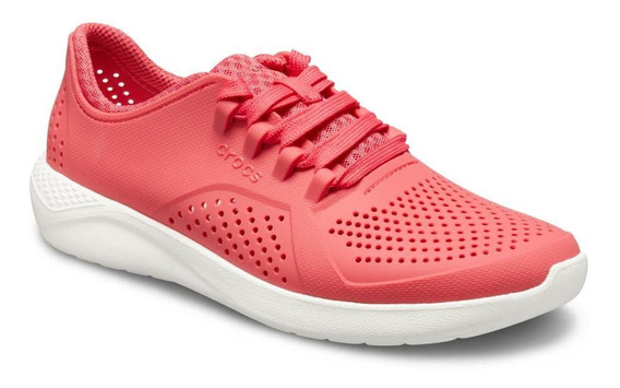 Crocs Literide Pacer Woman Poppy/white