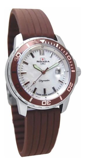Reloj Nivada Skymaster Nvng30691lacci Dama Original E-watch