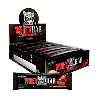 Caixa Whey Bar Dark 8 Barras Integralmedica