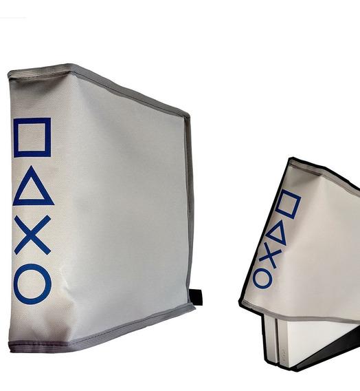 Capa Ps4 Fat Vertical Antipoeira Protetora Console Em Pé