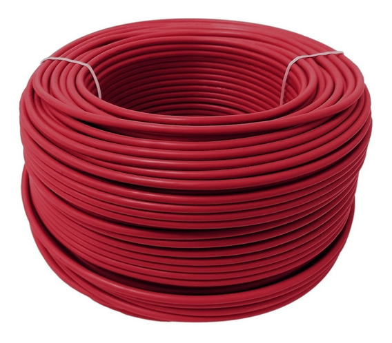 Cable Calibre 12 Thw Alucobre En Caja Con 100m Color Rojo