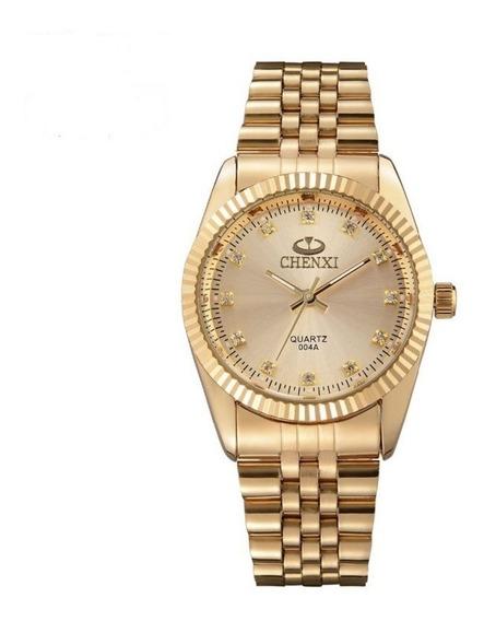 Relógio Feminino Chenxi Dourado Prova D Água Frete Grátis