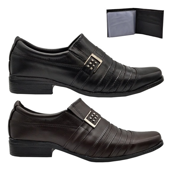 Sapato Social Masculino Barato Preço Baixo Kit Com 2 Pares