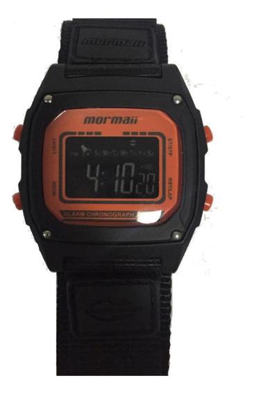 Relógio Masculino Mormaii Preto Com Pulseira De Tecido