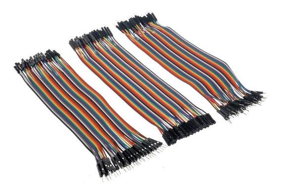 Kit Jumper 20cm 60 Unidades Mxf Mxm Fxf Arduino Cabinho Wire