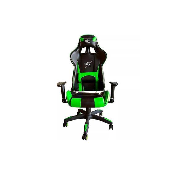Cadeira Gamer Br-x Com 5 Rodas Preto E Verde