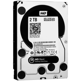 Wd Disco Duro Western Digital Black, 2tb, Sata 6 Gb/s, 7200