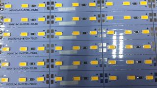 10 Barra Led Régua Smd 5730 12v 18w 72 Led Em 1m Bco Quente