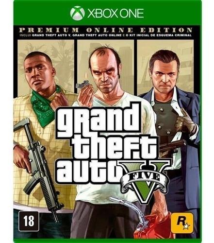 Grand Theft Auto V Premium Online Edition - Xbox One Lacrado