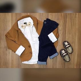 Blazer Cotele Calça Jeans Moletinho Camisa Longa Gra Mocassi