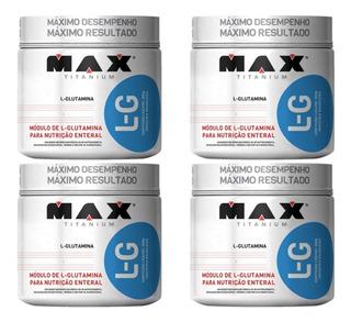 4x L-g Glutamina 300g - Max Titanium