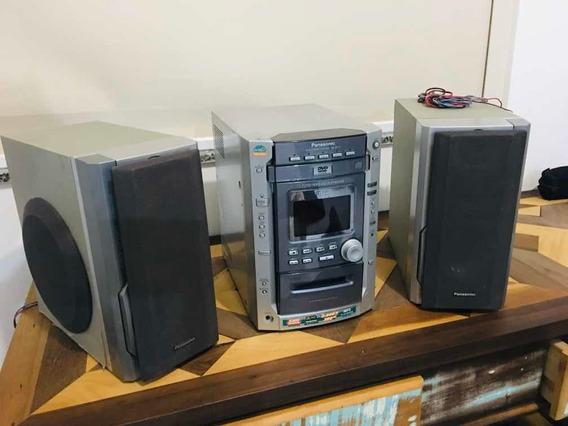 Som Micro System Panasonic Sa Dk10 Com Caixas Passivas Sub