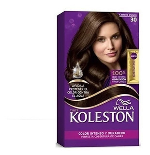 Kit Tintura Koleston Wella Color 30 Castaño Oscuro