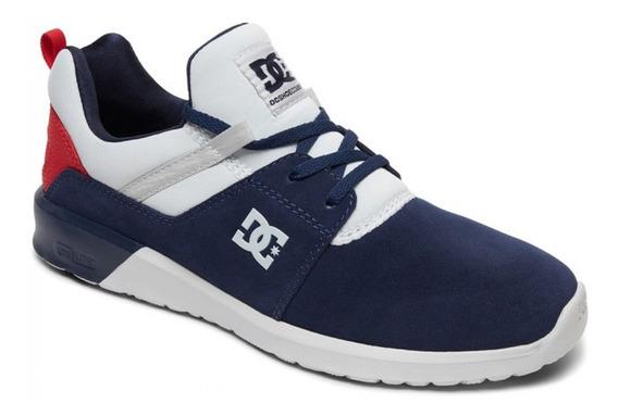 Zapatillas Dc Shoes Heathrow Se Azul Talón Rojo