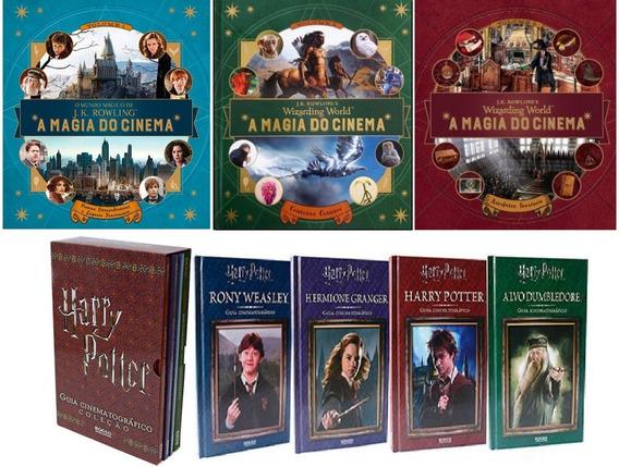 Kit 7 Livros Harry Potter A Magia Do Cinema + Guia Cinema
