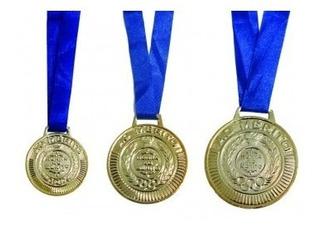 51 Medalhas Rema Ref.4450 Ouro/prata/bronze 50mm Com Fita