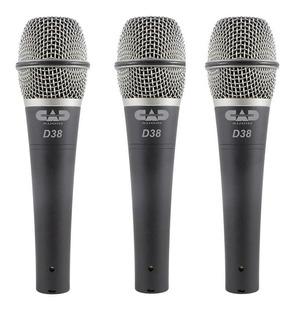 Set De 3 Microfonos Cad Premium Ds38