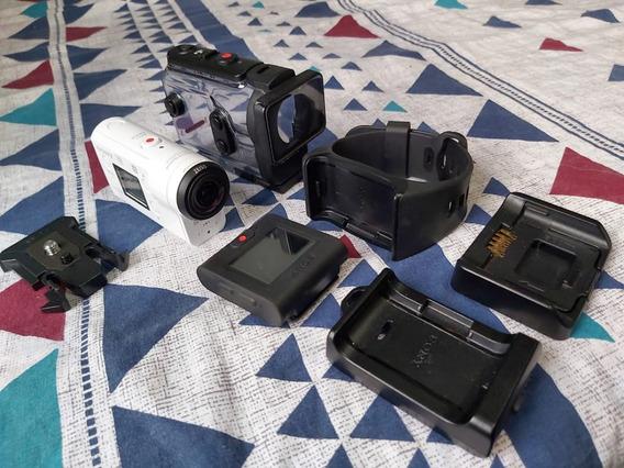 Câmera De Ação Action Cam Sony Fdr-x3000r C/ Controle Remoto