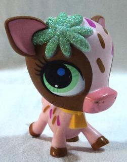 Littlest Pet Shop Original Vaca Toro Ojos Verdes Hasbro