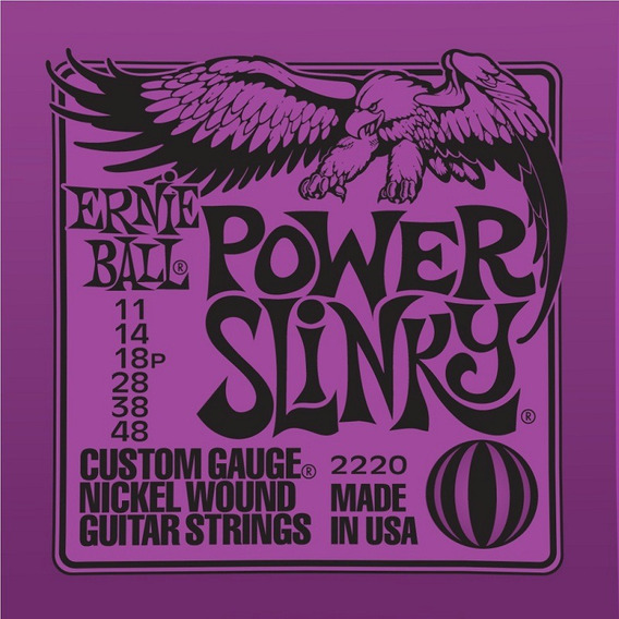 Encord. Ernie Ball Guitarra 0.11 Power Slinky 2220