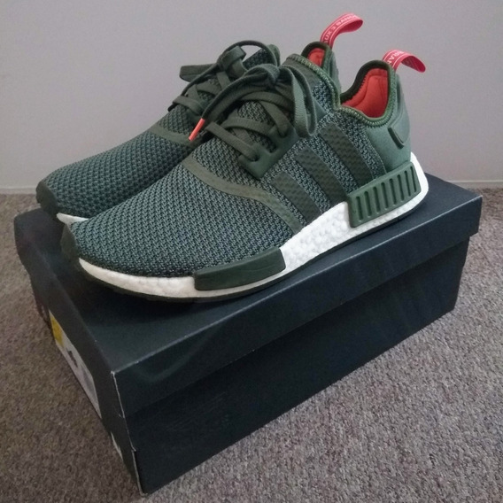 adidas Nmd R1 (base Green / Night Cargo / Solar Orange)