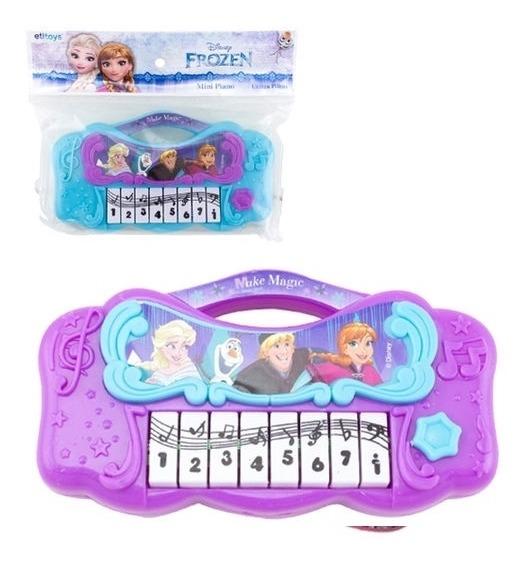 Piano Infantil Frozen Teclado Musical Princesa Mini Meninas