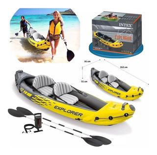 Kayak Intex Explored K2 Inflable Para 2 Personas Nuevos