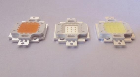 7 Led 10w Branco 10k + Royal + Uv + Cola + Resistor + Fonte