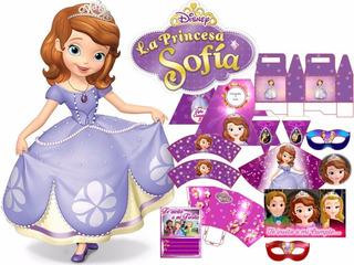 Kit Imprimible Princesa Sofia Candy Bar Tarjetas Y Mas