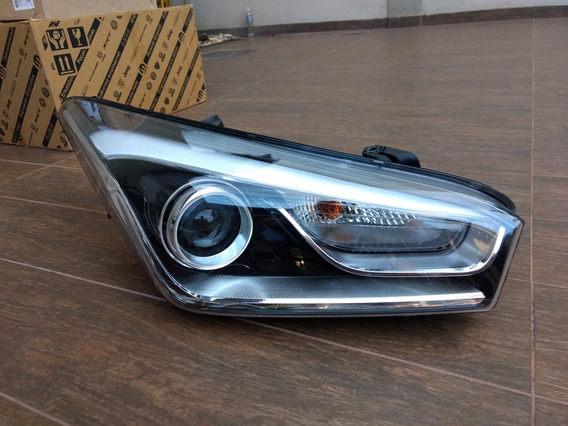 Farol Hyundai Hb20 Led Com Projetor Mascara Negra Original