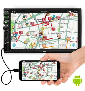 Central Multimídia Mp5 2 Din Espelhamento Bluetooth Usb Fm