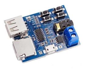 3 Placa Módulo Mp3 Decodificador Bordo Amplificador Arduino
