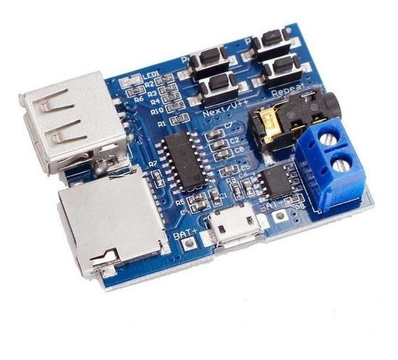 Placa Módulo Mp3 Decodificador Bordo Amplificador Arduino