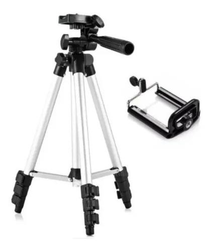 Tripé Universal Ajustável Telescópico Para Câmera E Celular
