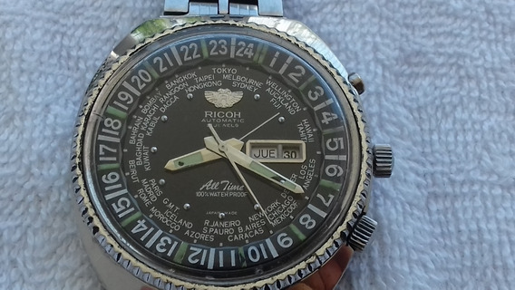 Reloj Ricoh All Time Automatico 21 Joyas En Acero Coleccion