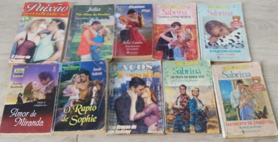 10 Livros De Romance ( Julia, Sabrina, Harlequin )
