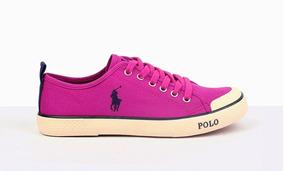 Tenis Polo Ralph Lauren Color Fiusha Nuevos Originales #26