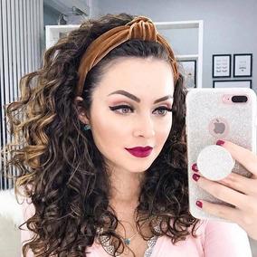 Tiara Turbante Thassia Nó Veludo Tendência Outono Blogueira
