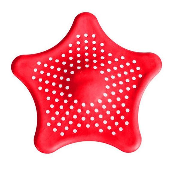 8 Pcs Starfish Forma Silicone Otários Cozinha Acessórios Pia