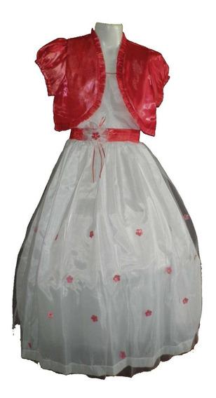 Oferta Nuevo Vestido Largo Con Saco Niña Corte Princesa