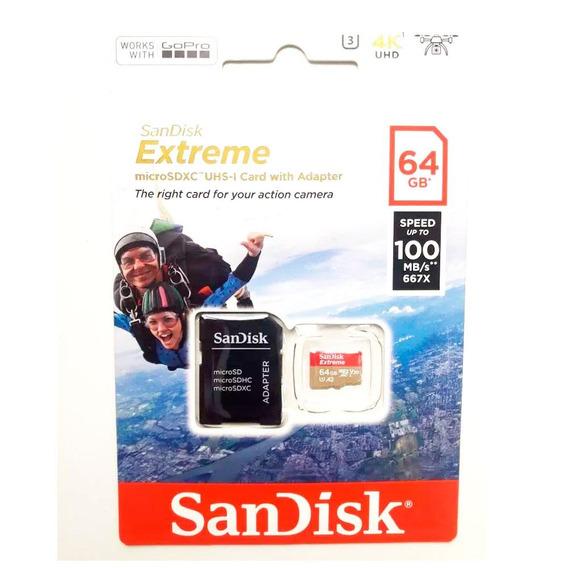 Cartão Micro Sd 64gb Extreme Sdsqxaf-064g-gn6aa 100mb/s