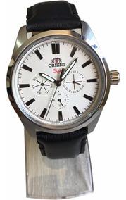 Relógio Orient Quartzo Aço Grande - Branco Original